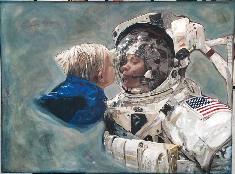 Local artist paints future astronaut  Arts  mtexpresscom