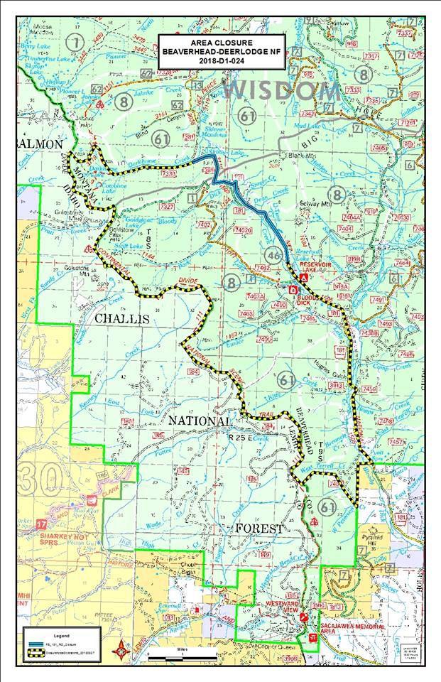 Beaverhead Deerlodge National Forest Map : beaverhead, deerlodge, national, forest, Monument, Wigwam, Closures, Lifted, Friday, Midnight, Local, Mtstandard.com