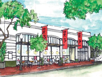 restaurant drawing architectural local piccolino coming asian space napavalleyregister downtown submitted getdrawings