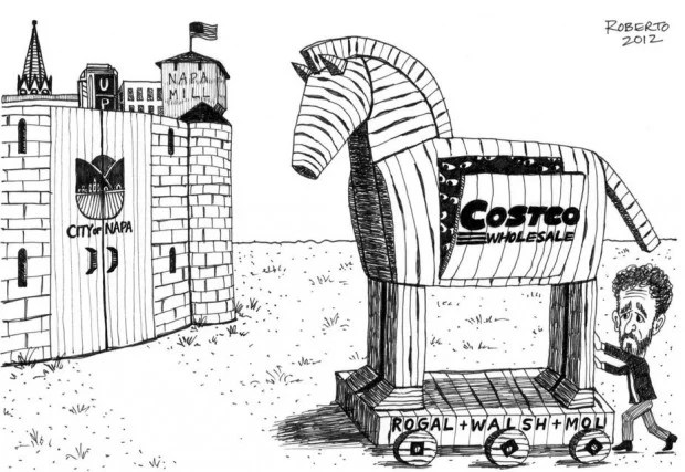 Editorial Cartoon: Costco at Napa Pipe?
