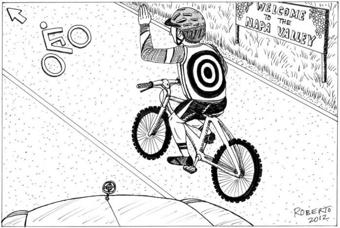 Editorial Cartoon: Bicycle lanes