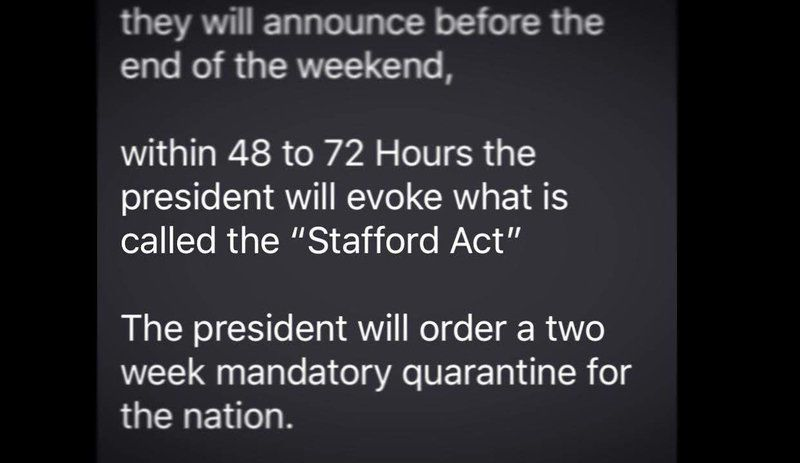 National Guard Stafford Act Text A Fake Local News