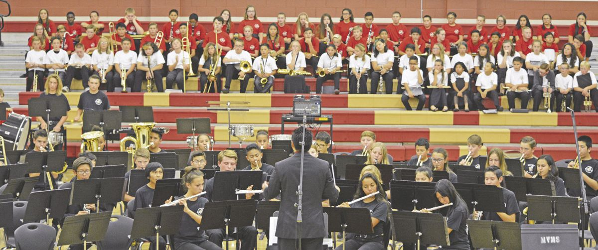 Mesa View Middle School Bands hold a Fall Band Concert  Local News  newsmirrornet