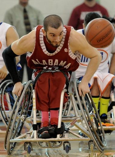 wheelchair olympics bathing chair for elderly arambula s quest to fit in lands him valparaiso native jared averaged a triple double his senior year at alabama before joining the national basketball association