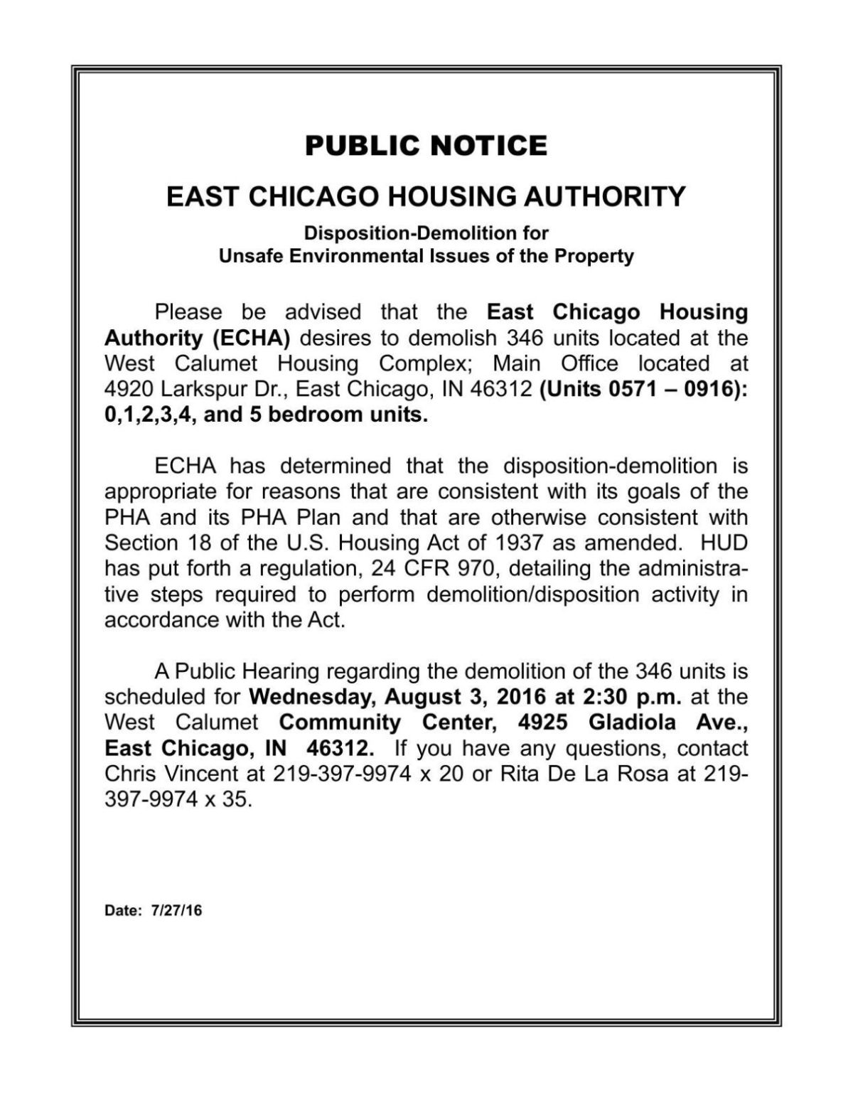 sample notice letters