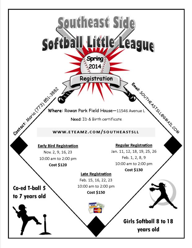 Event : Early Bird Southeast Softball Little League