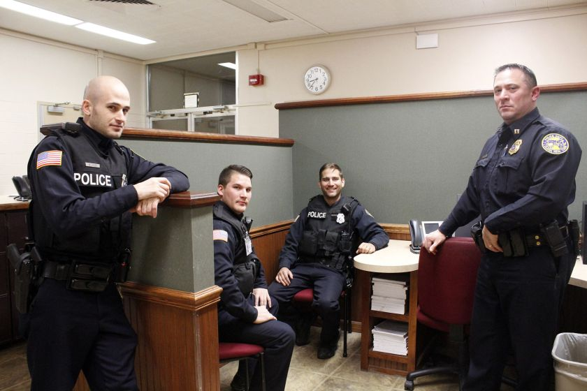 Olean Police Department officers