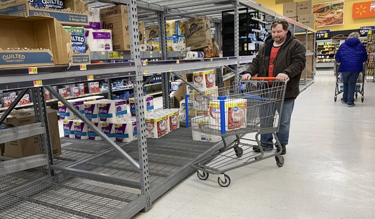 Shelves emptying of toilet paper, canned goods as COVID-19 fears ...