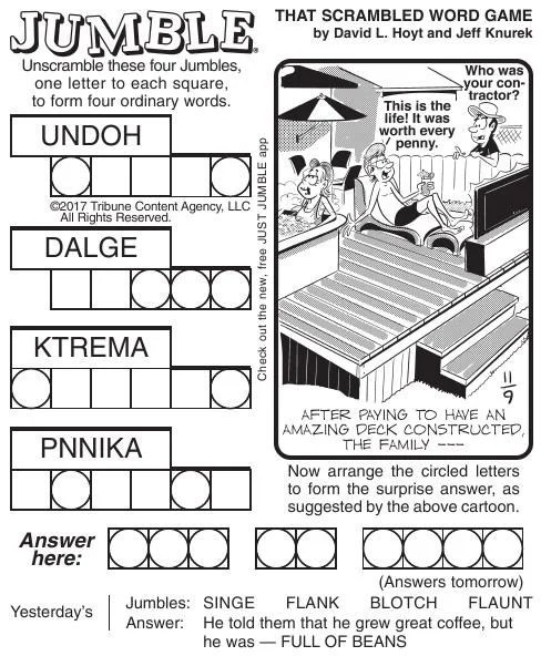 Free Printable Jumble Puzzles for Adults That are Dynamic