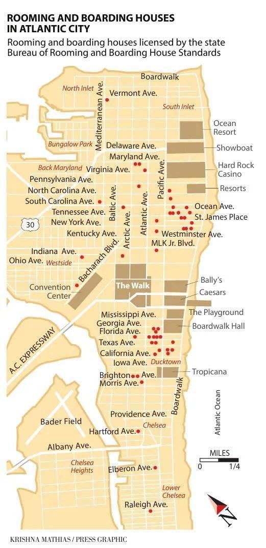 Map Of Atlantic City Casino : atlantic, casino, Atlantic, Rooming, Houses, Pressofatlanticcity.com