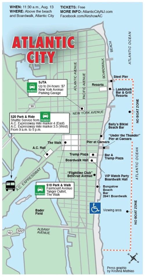 Map Of Atlantic City Casino : atlantic, casino, Atlantic, Airshow, Viewing, Parking, Pressofatlanticcity.com