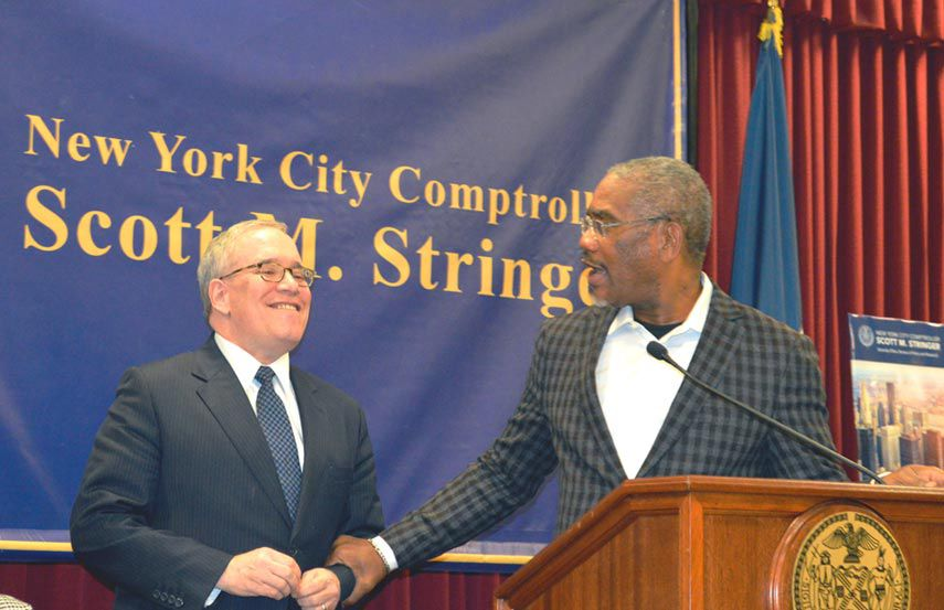 Stringer talks Trump and city in St. Albans 1