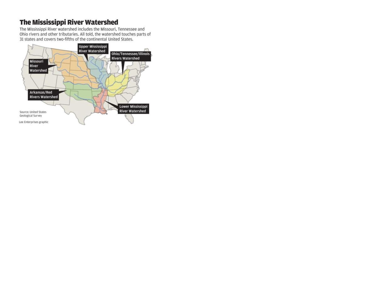 You'll explore nature, learn about legendary history and literature and — most importantly — have a wonder. Map Of Mississippi River Watersheds Qctimes Com