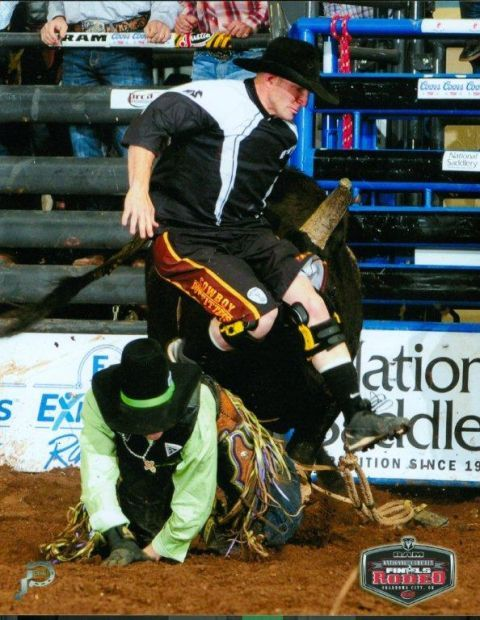 Rodeo Bullfighters Put Contestants Safety First Stock