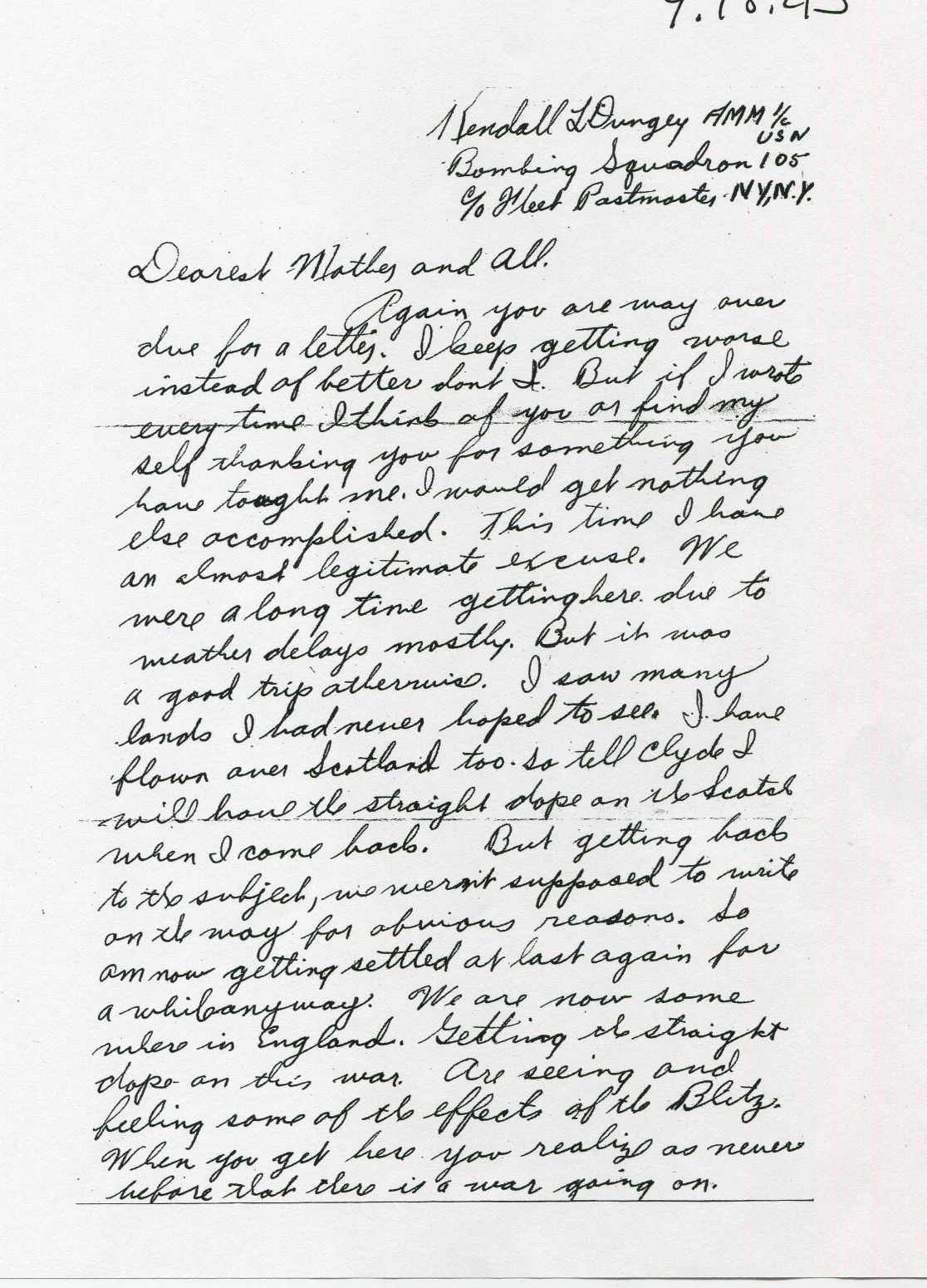 Letters Home from long ago war introduce daughter to