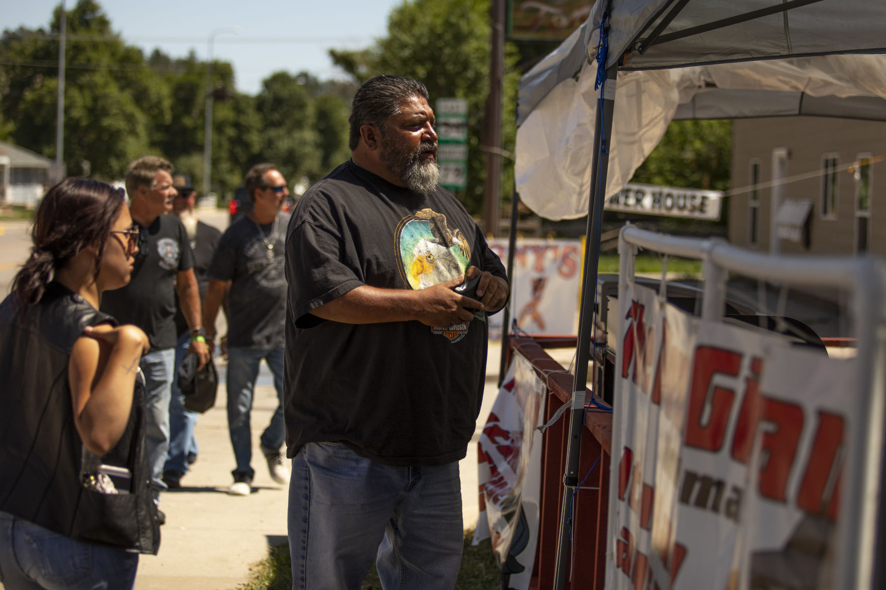 People in Downtown Sturgis Gear Up for Rally