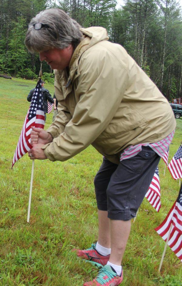 'honor ' Flag Display In Gilsum Memorial
