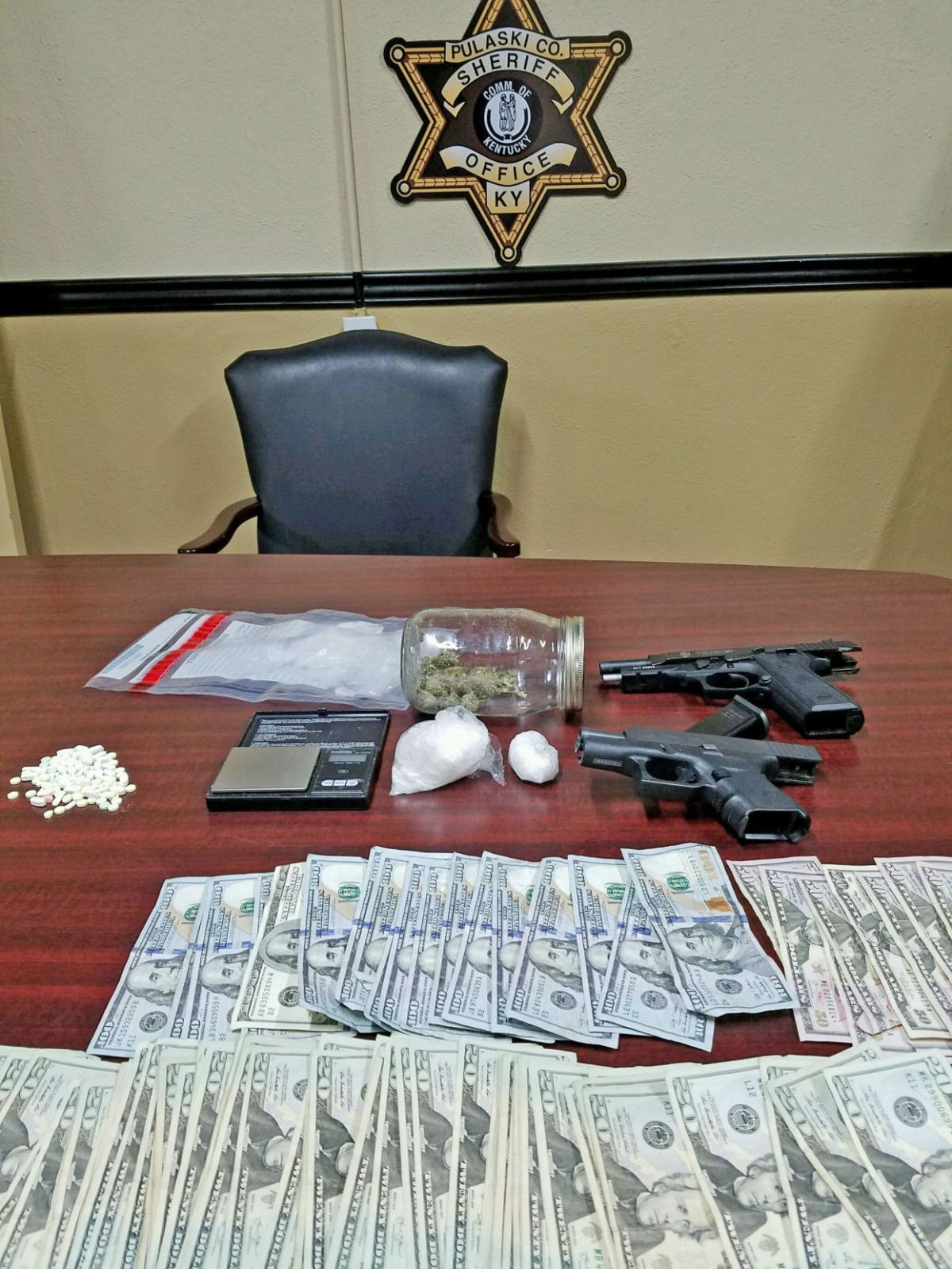 Nine Arrested Drugs And Weapons Seized In Polk County - Year