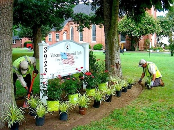 brickman donates landscaping