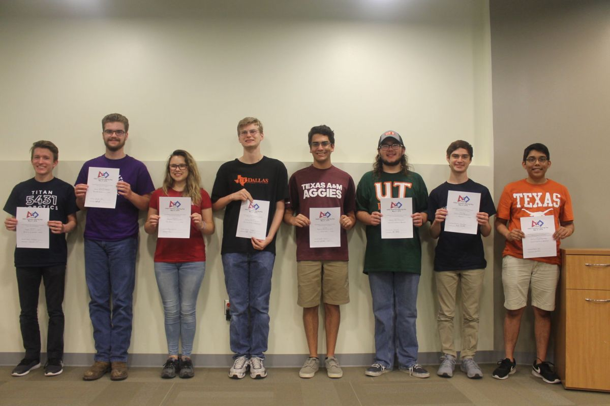 Graduating Seniors From Plano Senior And Academy High School Hold Their Letters  Of Intent Monday Night On National Signing Day.
