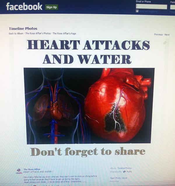 I Read It Online: Heart attacks & water   Health News ...