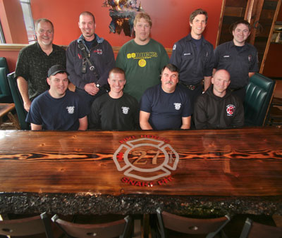 Battle Ground Fire Station Gets New And Unique Dining Table The Reflector News