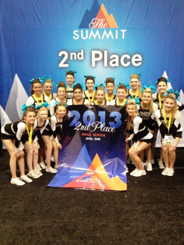 AllStar Fusion cheerleading team takes 2nd place at