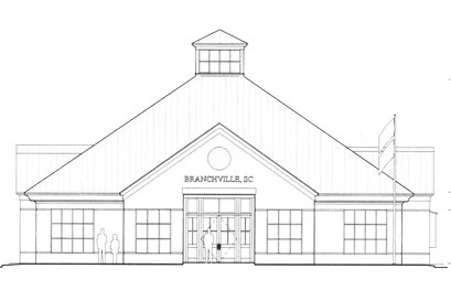 Branchville Town Hall drawing