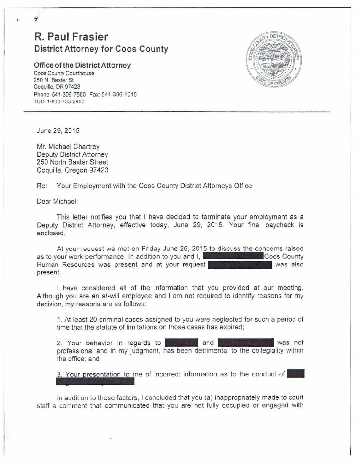 Download Pdf Michael Chartrey Termination Letter Pg. 1