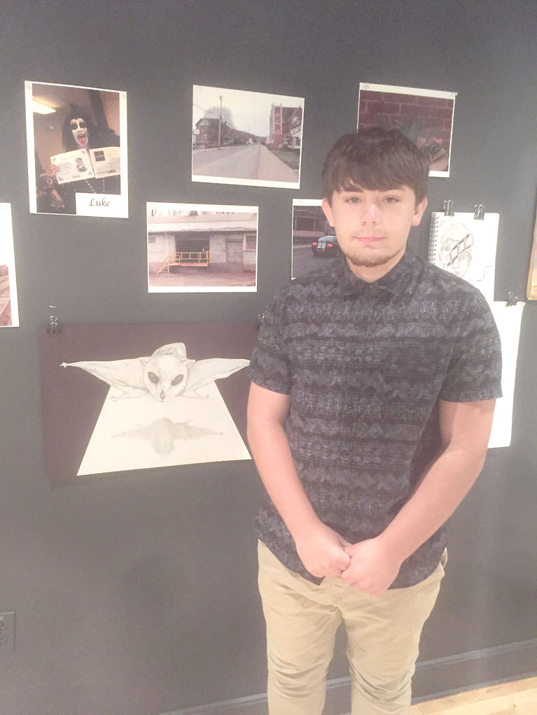 young artists display creations