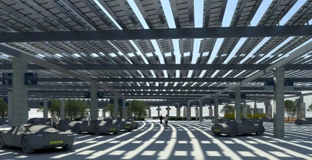 Solar canopy to shade Tucson airports front parking lot