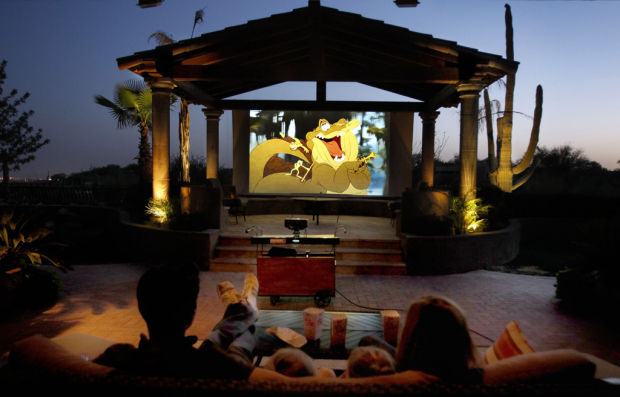A movie theater in your own backyard