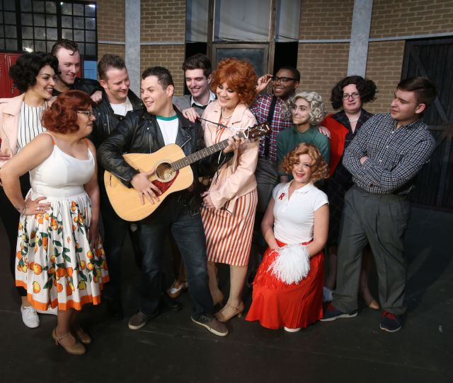 The Cast Of Waco Civic Theatres Grease Brings Back The Rollicking Life Of 50s T Birds Pink Ladies And Other High Schoolers In A Three Weekend Run