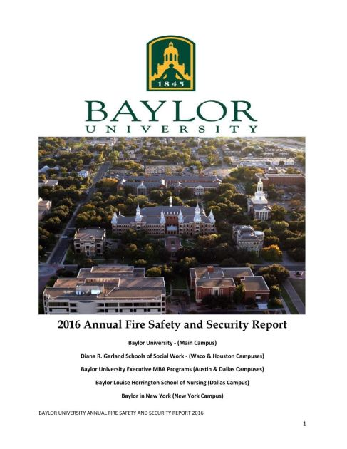 Baylor Lists Sharp Increase In Rape Reports On Campus In 2015