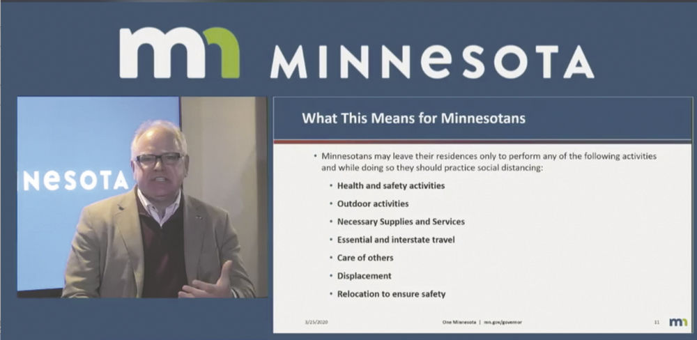 Gov Walz Issues Executive Order Directing Minnesotans To
