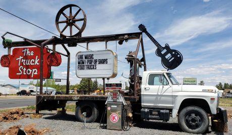 Meixler truck stop sign