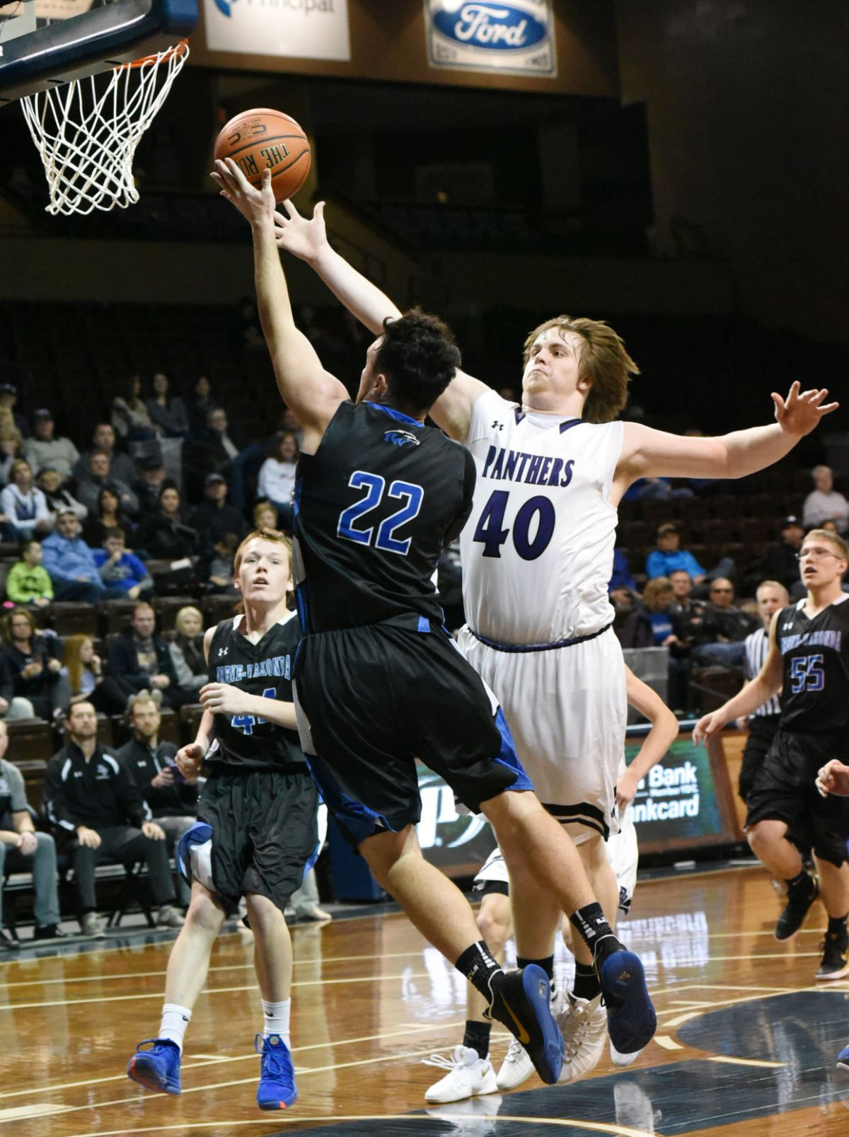 Boys Basketball Cougars Panthers Huskies Win