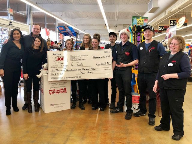Montana Ace Donates Over 8 000 To Toys For Tots Program