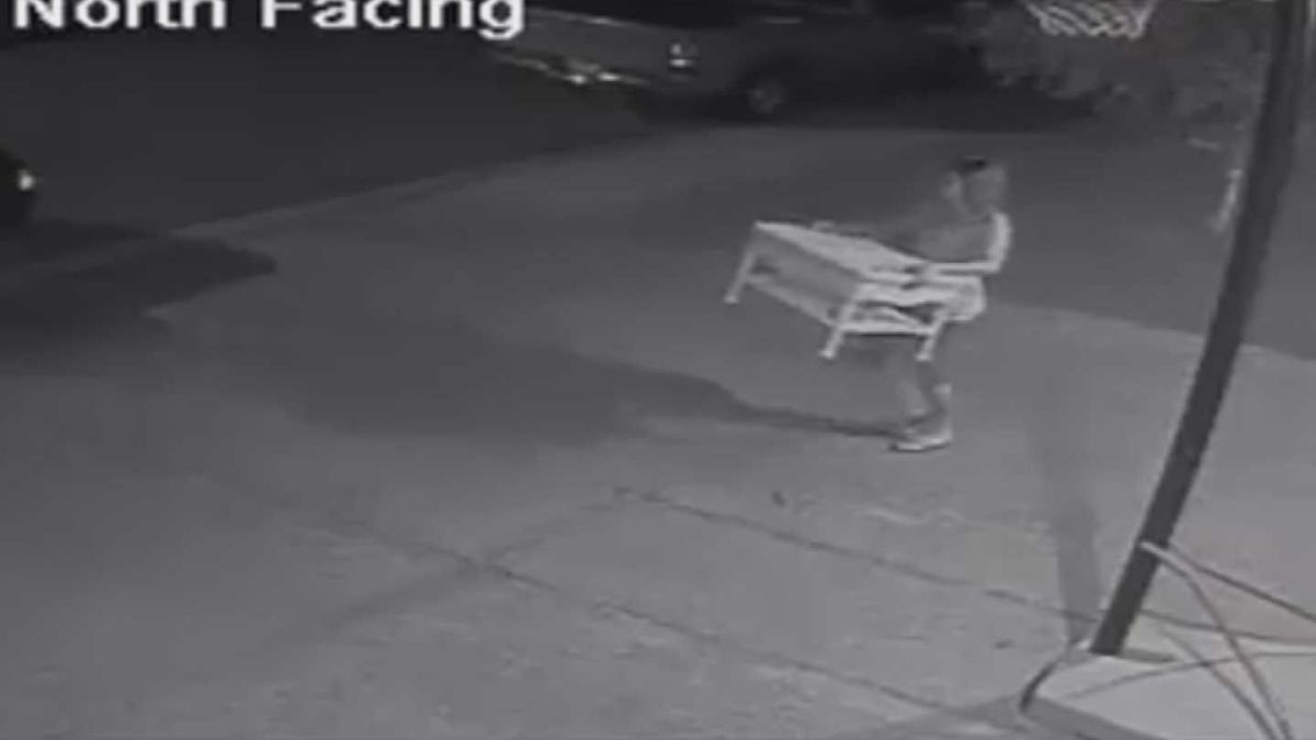 thieves stealing patio furniture in