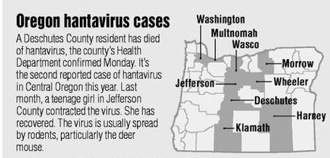 Hantavirus death confirmed | Local&State | bendbulletin.com