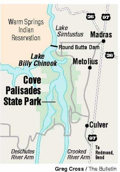Lake Billy Chinook Map : billy, chinook, Palisades, State, Outdoors, Bendbulletin.com