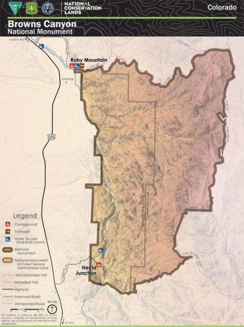 Browns Canyon Map : browns, canyon, Newest, Browns, Canyon, National, Monument, Chaffeecountytimes.com