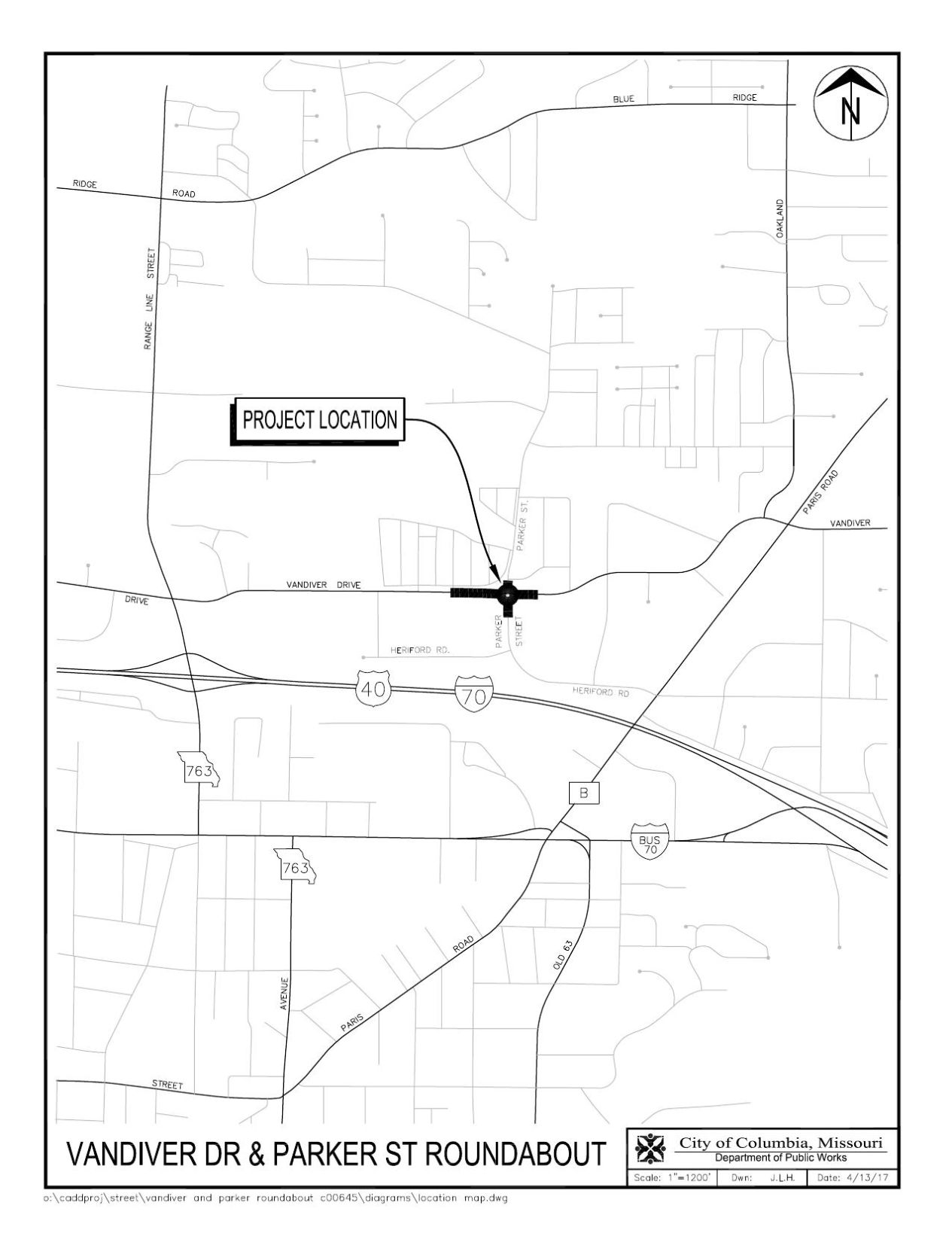 Roundabout to be built at intersection of vandiver and parker