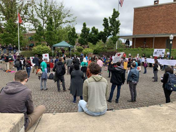 GTFF, LERC rally after cramming Board of Trustees meeting