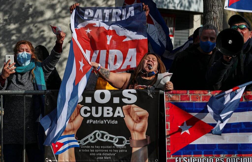 Chile Cuba Protest
