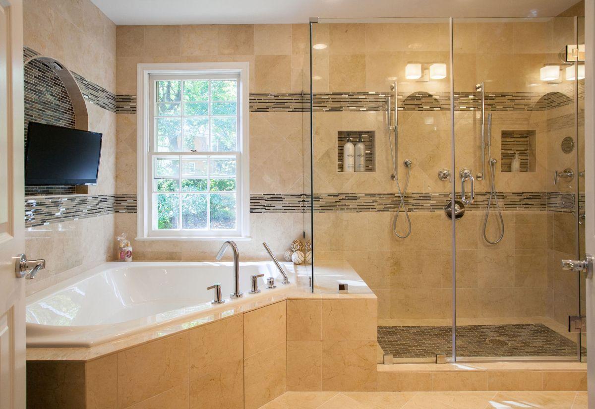 Small master bath full luxury treatment  Articles