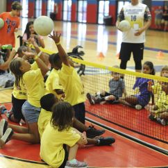 Wheelchair Volleyball P Kolino Table And Chairs Hood Hosts Adaptive Sports Day Forthoodsentinel Com The Kids Tried Out Sitting Archery Hand Cycling