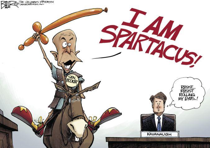 Image result for Sen. Cory Booker cartoon