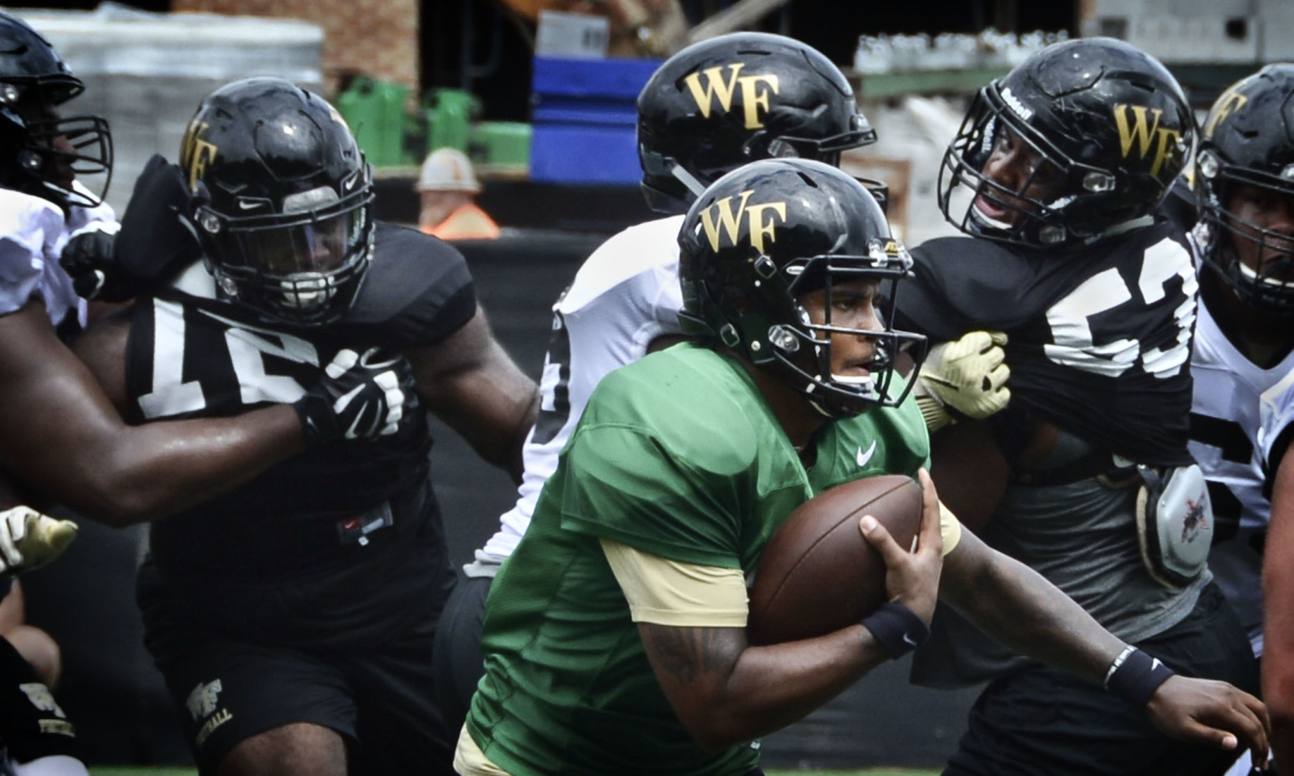 Michael jackson and food trucks mark end of wake forest   fall camp plus the latest on qbs also rh greensboro