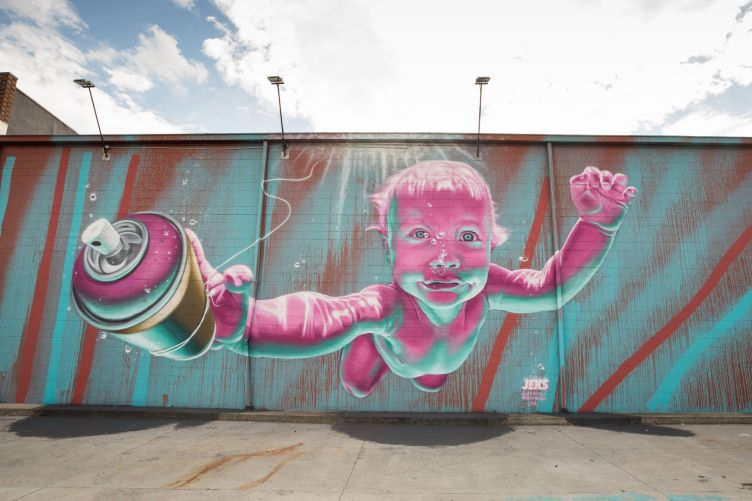 JEKS's spray-painted murals part of city's growing street-art ...